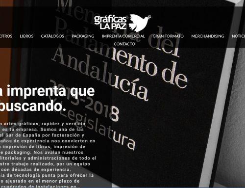 Gráficas la Paz pone en marcha una nueva web corporativa para acercarse a sus clientes